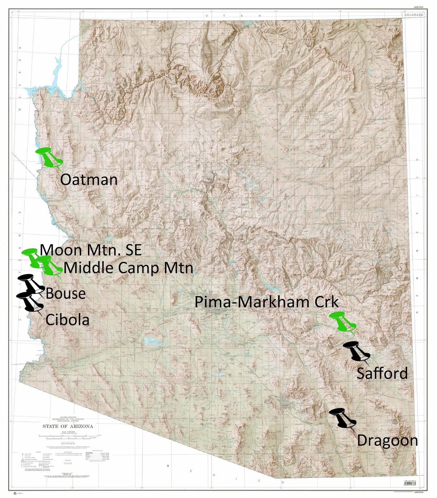 Map Of Oatman Arizona.Azgs Statemap 2017 Deliverables Delivered E Magazine Of The Az