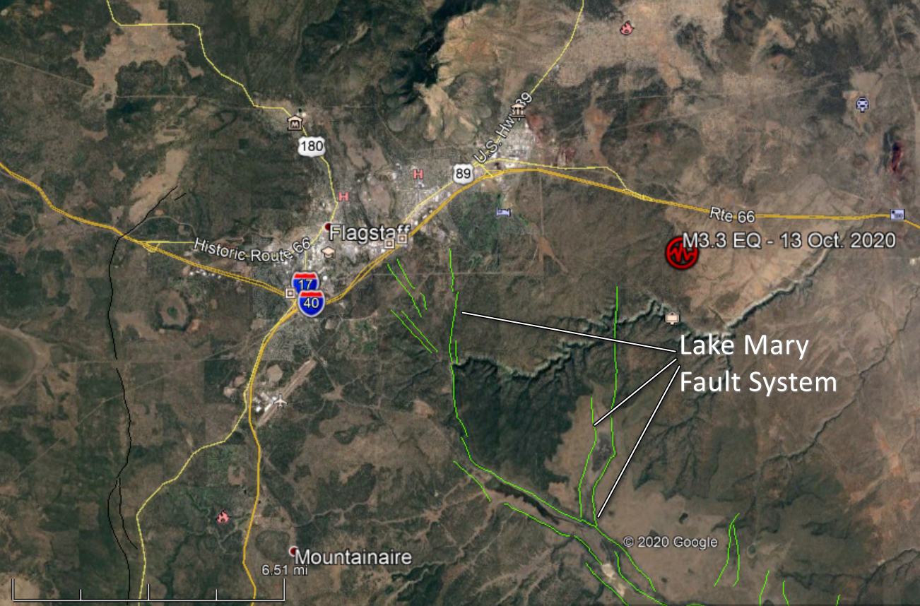Lake Mary Fault near Flagstaff, Arizona