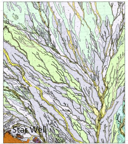 Star Well Geologic map