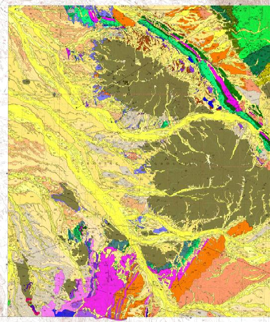 Geologic Map of the North Trigo Peaks.