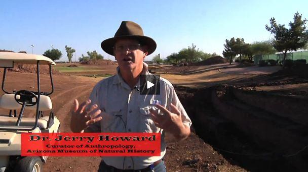 Jerry Howard excavating Hohokam Canal, Phoenix, AZ