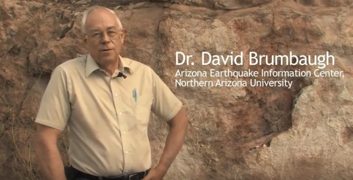 Lake Mary Fault, Arizona. Dr. David Brumbaugh of Northern Arizona University