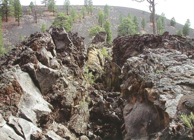 Squeeze up in Bonito lava flow, Sunset Crater