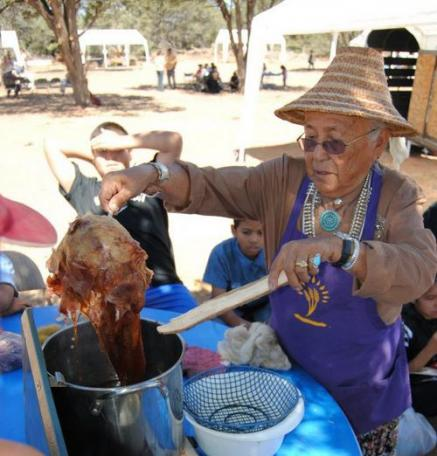 Navajo with traditional dye