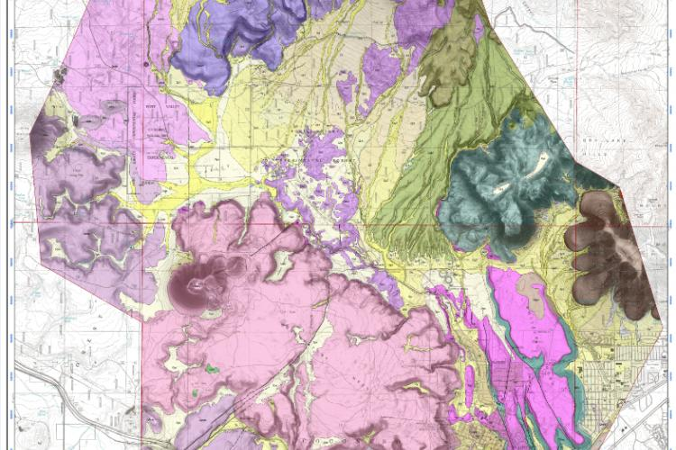 NW Flagstaff digital geologic map