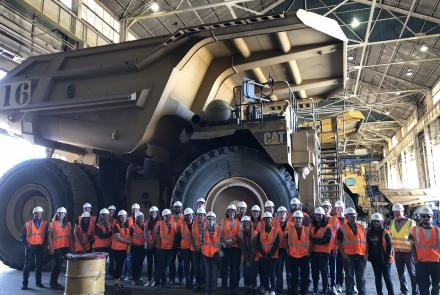 Yavapai students dwarfed by ore truck