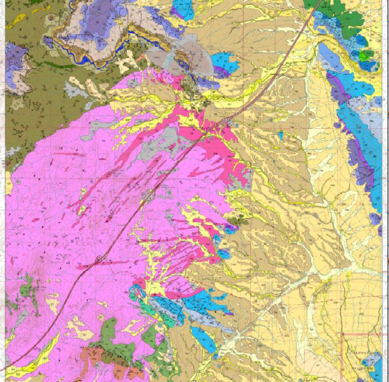 Geologic map of Dragoon quad.