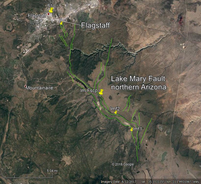 Google Earth Tour The Faults Of Flagstaff Arizona E Magazine