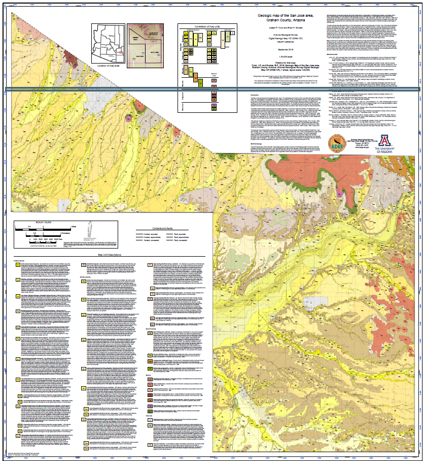 Geologic map of San Jose area