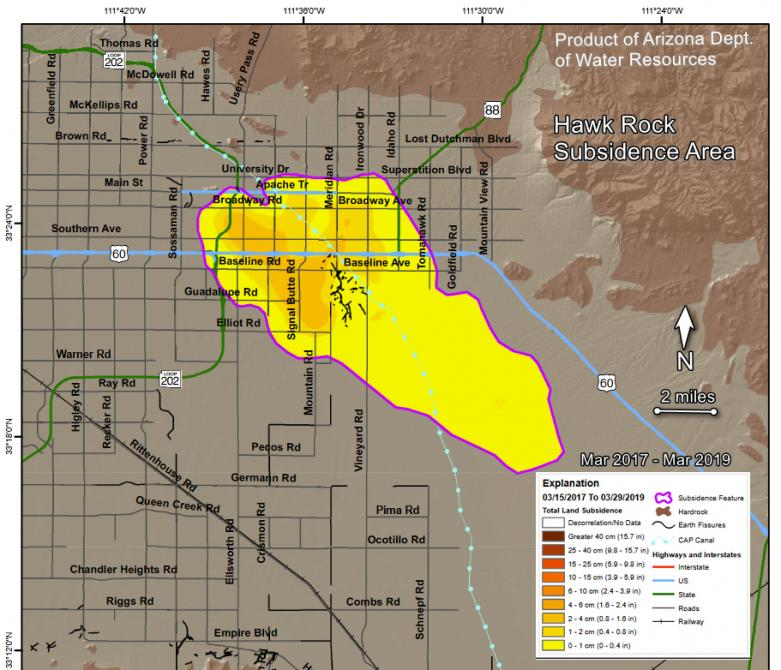 Hawk Rock Subsidence Area, Apache Junction, Arizona