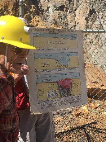 Paul at Arizona Geological Society field trip to Jerome, 21 Apr. 2018