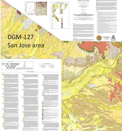 San Jose digital geologic map