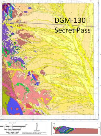 Secret Pass digital geologic map