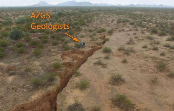 Earth fissure in southern Pinal County