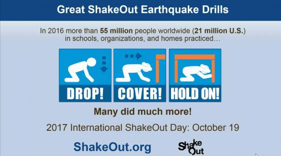 Great Arizona ShakeOut 2017 - Drop, Cover & Hold On