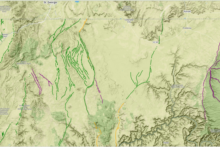 Major faults of Northwestern Arizona