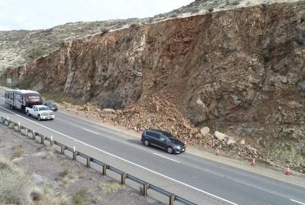 Rock fall along I-17 corridor