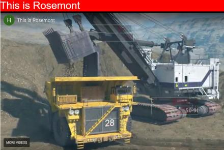 Mining ore at Rosemont