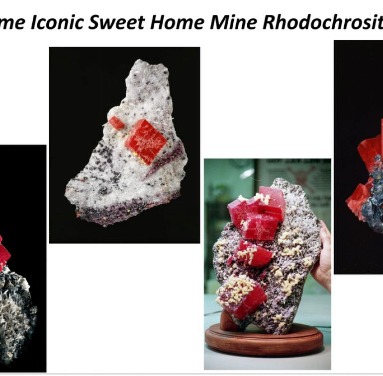 Rhodochrosite minerals of the Sweet Home Mine